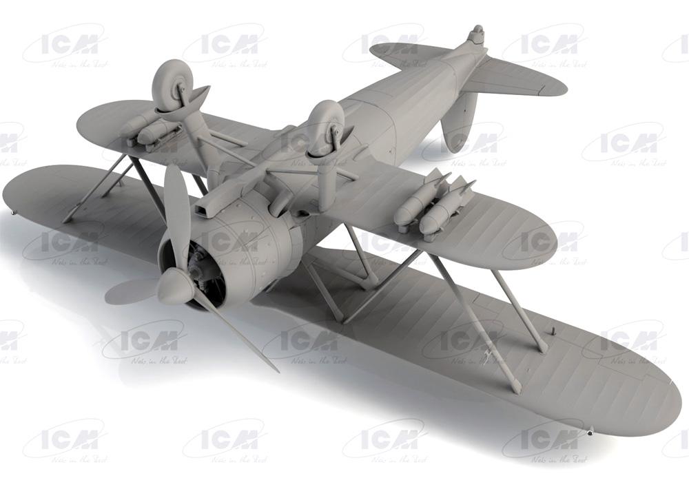 フィアット CR.42 ファルコ WW2 イタリア戦闘機プラモデル(ICM1/32 エアクラフトNo.32020)商品画像_3
