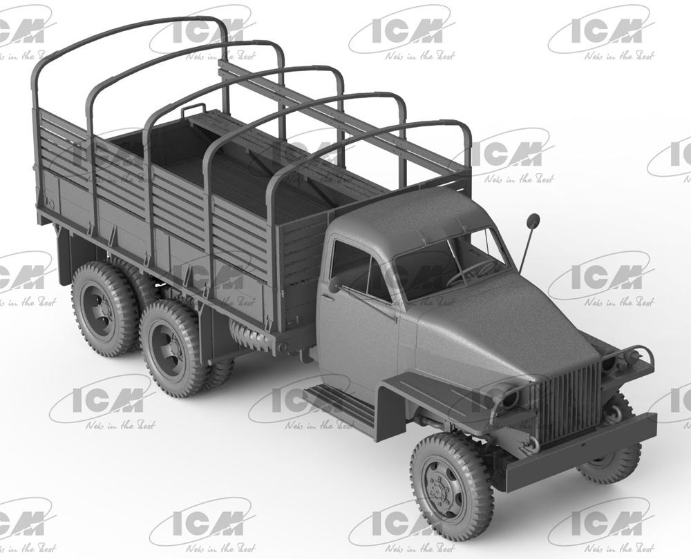 スチュードベイカー US6 カーゴトラック w/ソビエト ドライバープラモデル(ICM1/35 ミリタリービークル・フィギュアNo.35510)商品画像_2
