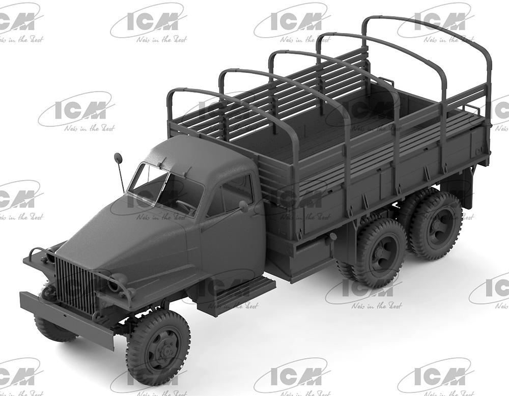 スチュードベイカー US6 カーゴトラック w/ソビエト ドライバープラモデル(ICM1/35 ミリタリービークル・フィギュアNo.35510)商品画像_3