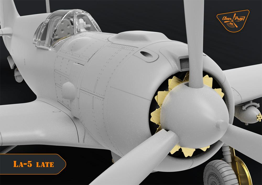ラヴォーチキン La-5 戦闘機 後期型プラモデル(クリアープロップ1/72 スケールモデルNo.CP72015)商品画像_2