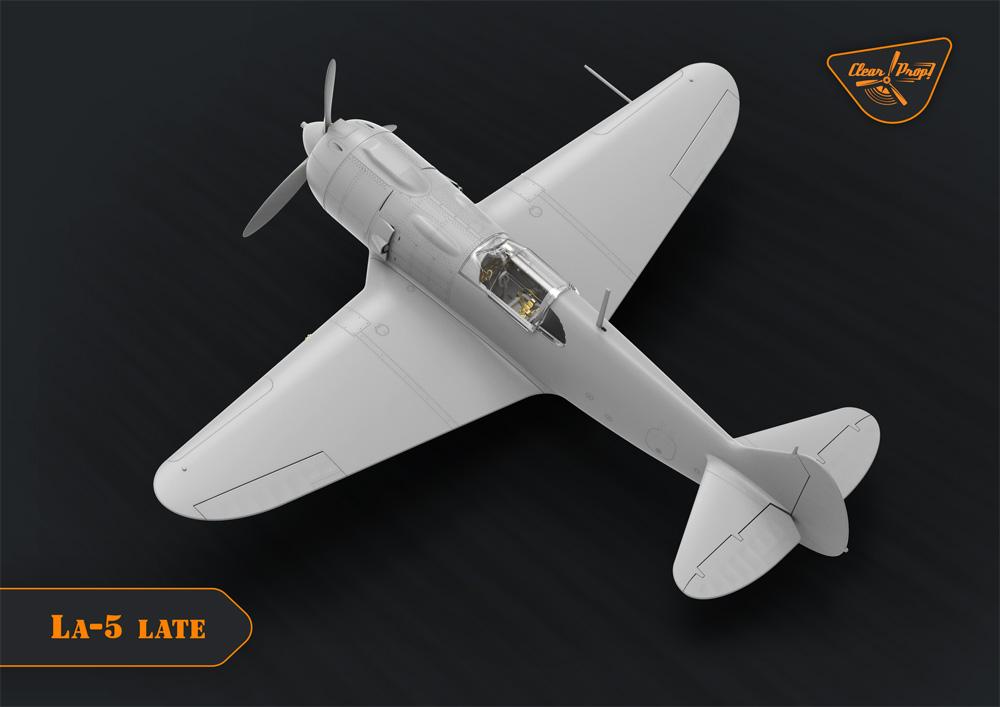 ラヴォーチキン La-5 戦闘機 後期型プラモデル(クリアープロップ1/72 スケールモデルNo.CP72015)商品画像_3