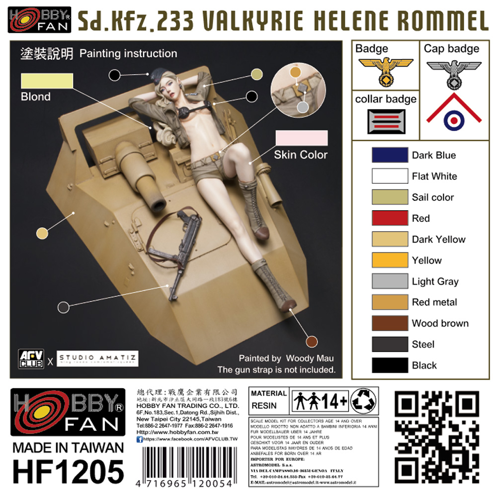 Sd.Kfz.233 バルキリー ヘレン・ロンメルレジン(ホビーファンVALKYRIE SERIESNo.HF1205)商品画像_1