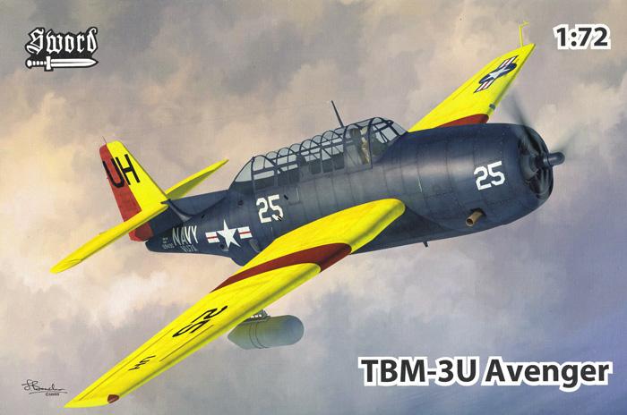 TBM-3U アベンジャー 標的曳航機プラモデル(ソード1/72 エアクラフト プラモデルNo.SW72134)商品画像