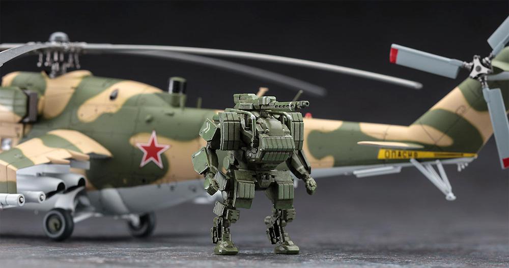 Mi-24 ハインド UAV & 人型軽戦車 ゴート UGVプラモデル(ハセガワ1/72 飛行機 限定生産No.02368)商品画像_4