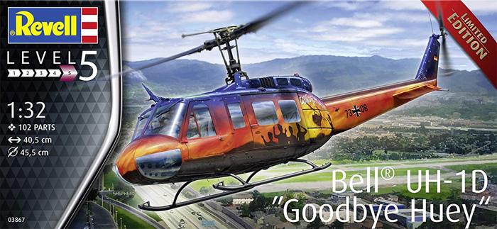 ベル UH-1D グッドバイ ヒューイプラモデル(レベル1/32 AircraftNo.03867)商品画像