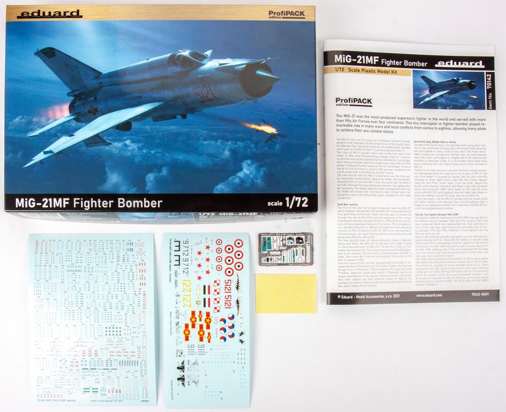 MiG-21MF 戦闘爆撃機プラモデル(エデュアルド1/72 プロフィパックNo.70142)商品画像_1