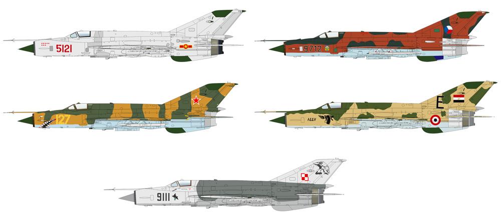 MiG-21MF 戦闘爆撃機プラモデル(エデュアルド1/72 プロフィパックNo.70142)商品画像_3