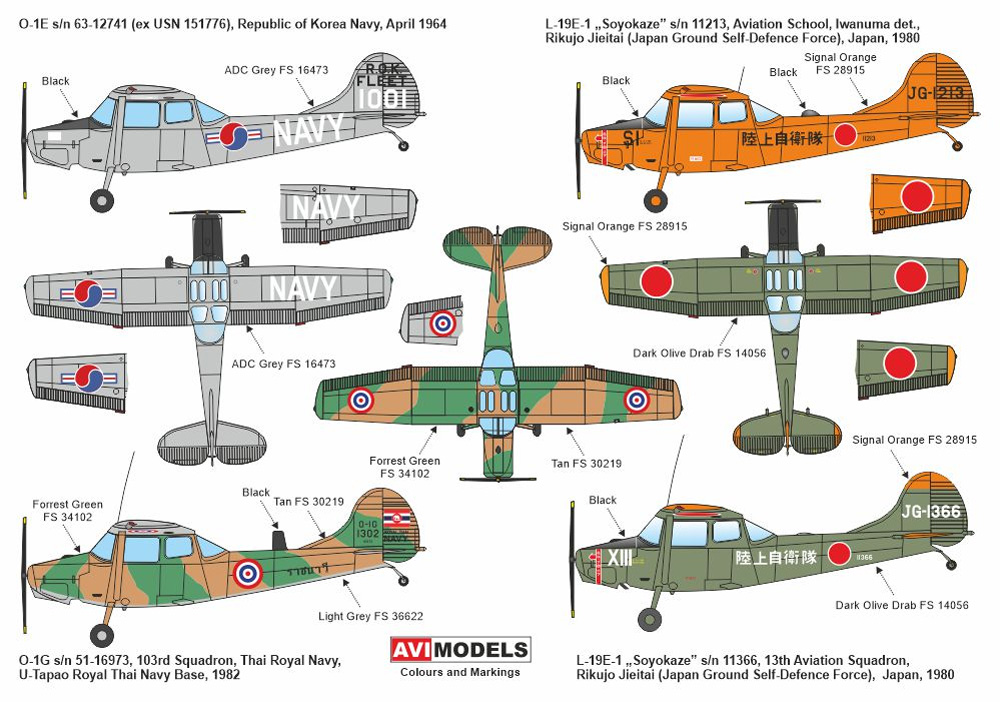 L-19E/O-1E/O-1G バードドッグ アジア上空プラモデル(AVIモデル1/72 エアクラフト プラモデルNo.AVI72019)商品画像_1