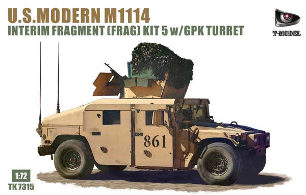 アメリカ M1114 FRAG 5 w/GPK 砲塔プラモデル(ティーモデル1/72 ミリタリー プラモデルNo.TK7315)商品画像