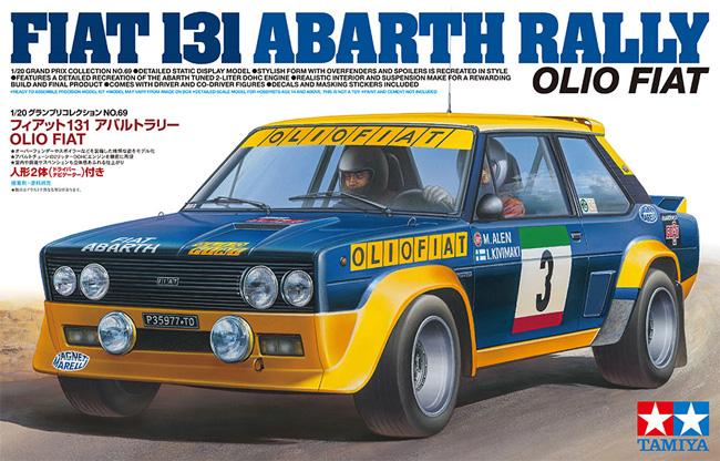 フィアット 131 アバルト ラリー OLIO FIATプラモデル(タミヤ1/20 グランプリコレクションシリーズNo.069)商品画像