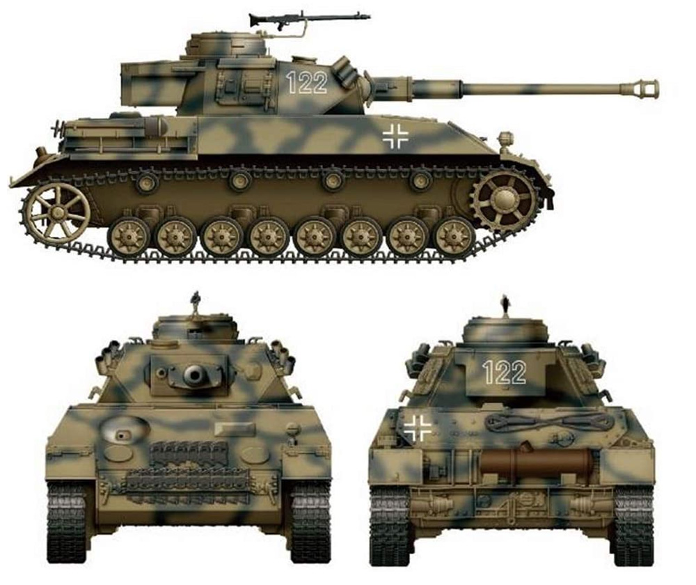 4号戦車H型 クルップ計画型プラモデル(アミュージングホビー1/35 ミリタリーNo.35A037)商品画像_1