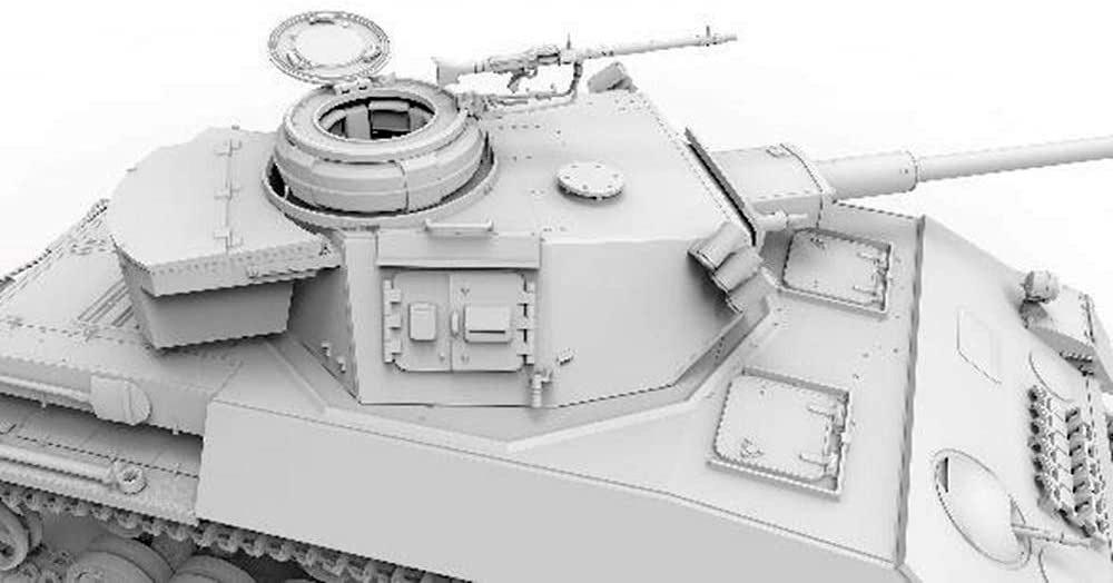 4号戦車H型 クルップ計画型プラモデル(アミュージングホビー1/35 ミリタリーNo.35A037)商品画像_4