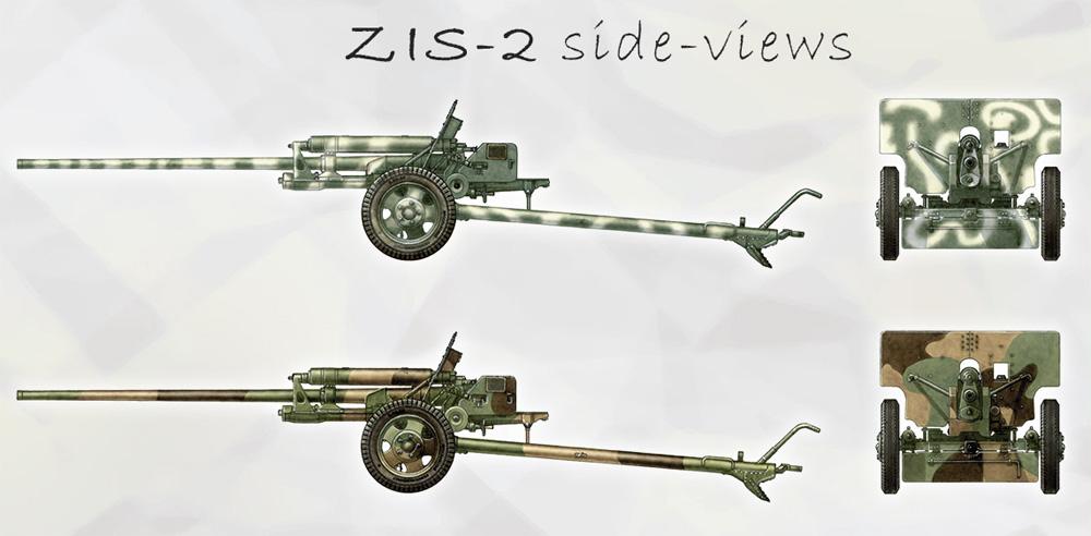 ZIS-2/ZIS-3 対戦車砲 w/リンバー & クループラモデル(ミニアート1/35 WW2 ミリタリーミニチュアNo.35369)商品画像_2
