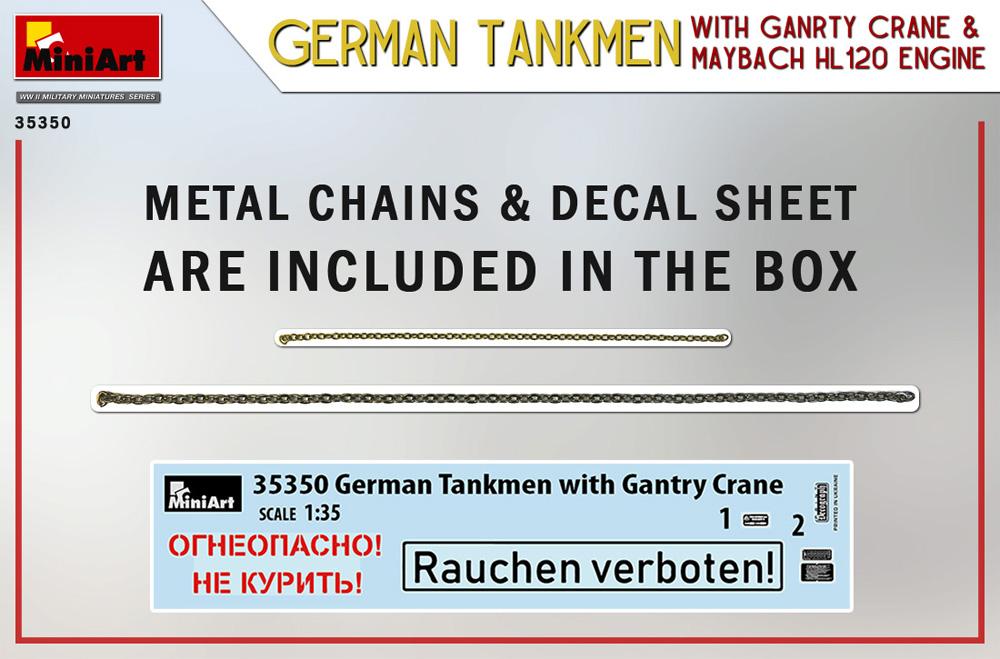 ドイツ 戦車整備兵 w/ガントリークレーン & マイバッハ HL120 エンジンプラモデル(ミニアート1/35 WW2 ミリタリーミニチュアNo.35350)商品画像_1
