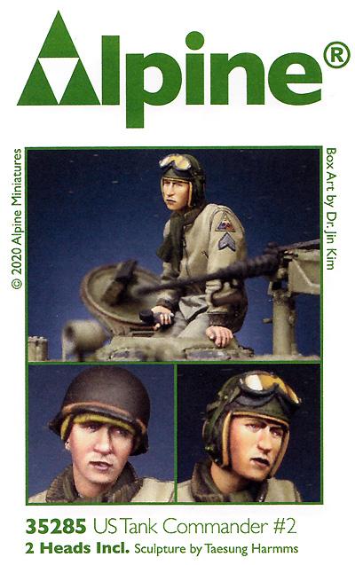 WW2 アメリカ陸軍 マフラー姿の戦車長 #2レジン(アルパイン1/35 フィギュアNo.35285)商品画像