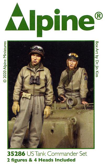 WW2 アメリカ陸軍 マフラーを巻く戦車兵セット (2体セット)レジン(アルパイン1/35 フィギュアNo.35286)商品画像