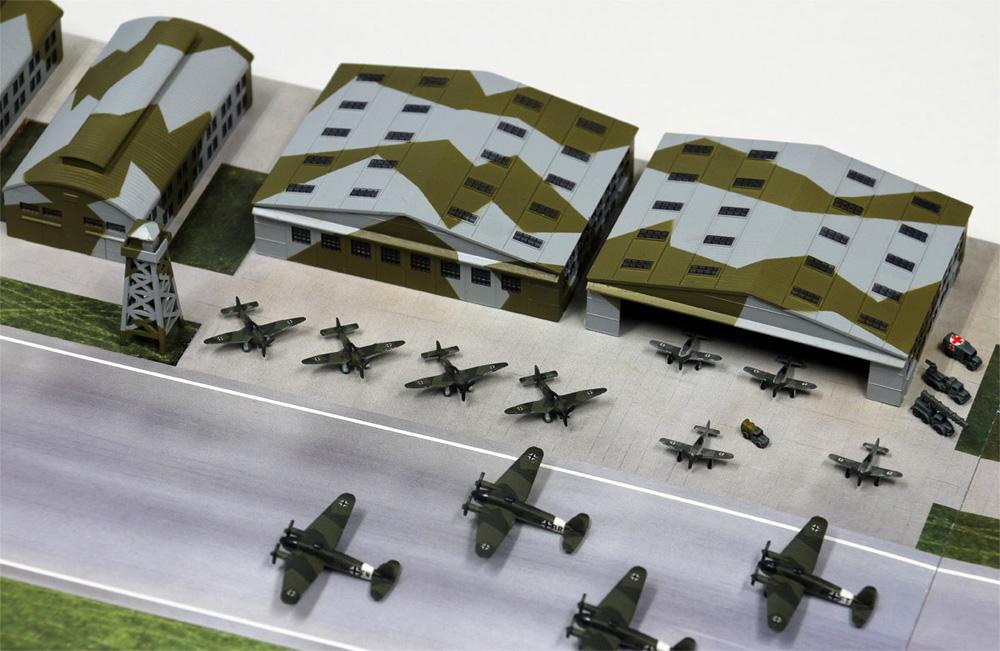 WW2 ドイツ空軍基地プラモデル(ピットロードスカイウェーブ S シリーズNo.SPS012)商品画像_2