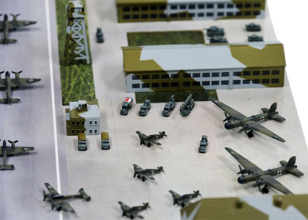 WW2 ドイツ空軍基地プラモデル(ピットロードスカイウェーブ S シリーズNo.SPS012)商品画像_3