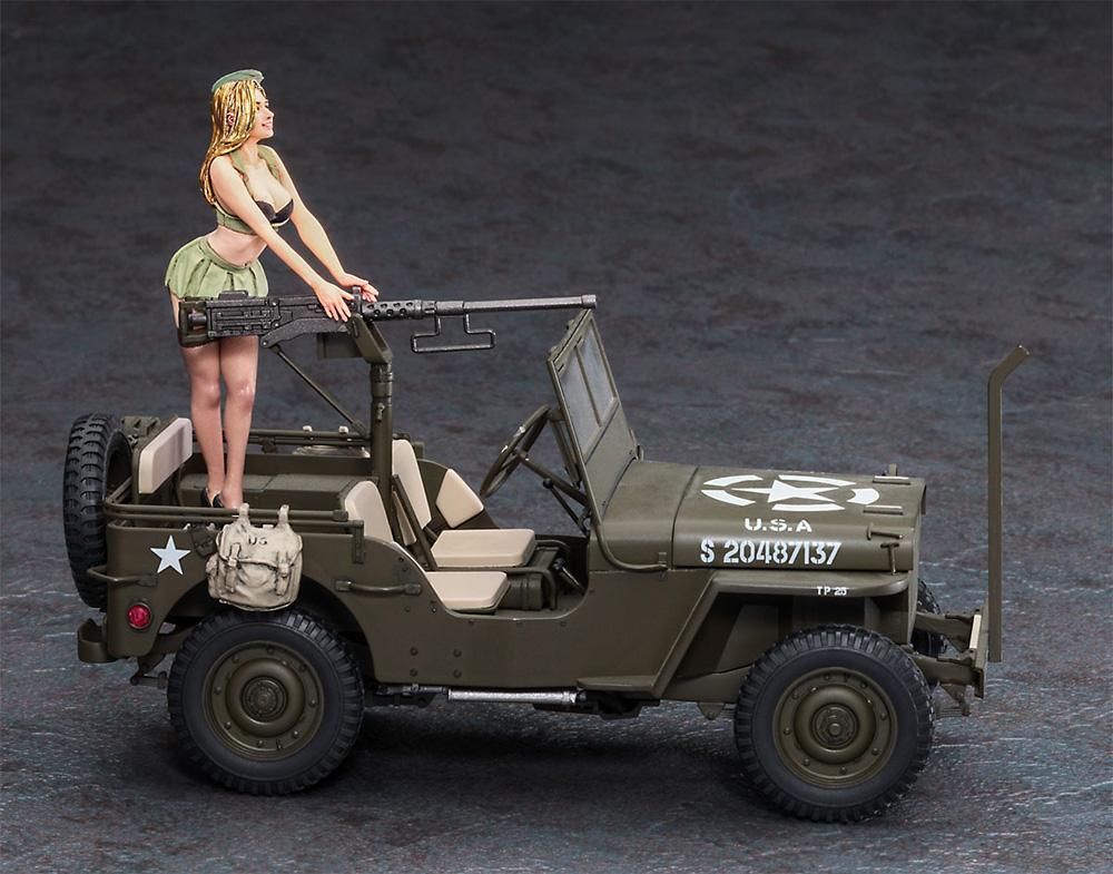 1/4トン 4×4トラック (50口径 M2機関銃装備) w/ブロンドガールズ フィギュアプラモデル(ハセガワ1/24 自動車 限定生産No.SP483)商品画像_2