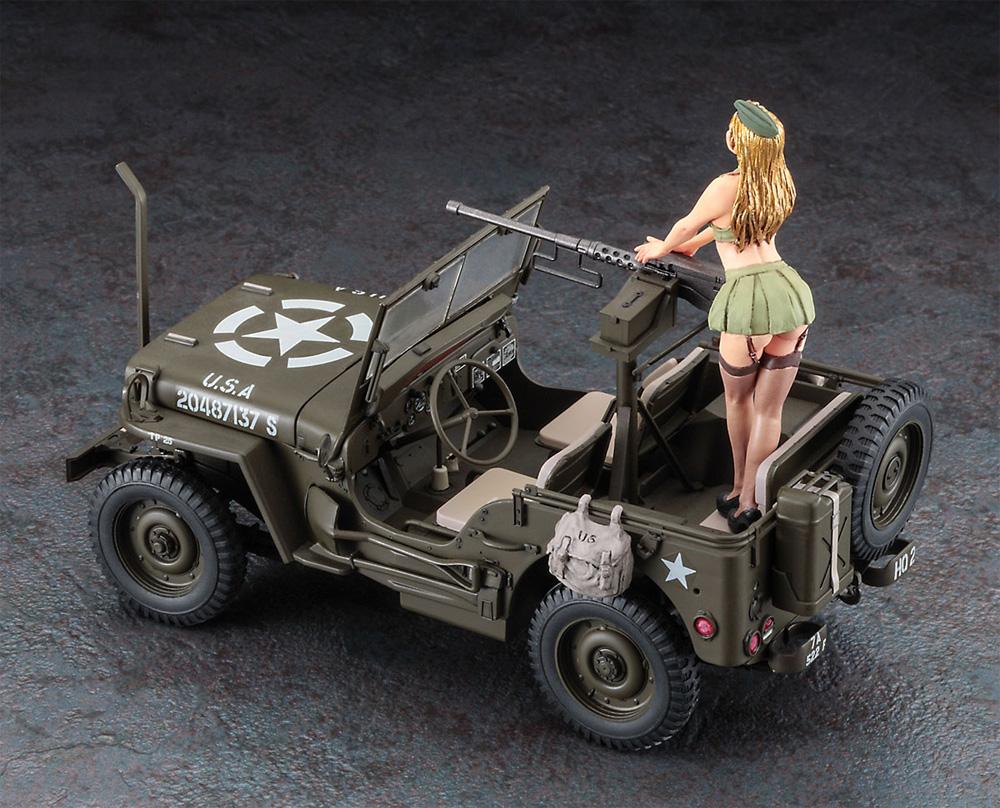 1/4トン 4×4トラック (50口径 M2機関銃装備) w/ブロンドガールズ フィギュアプラモデル(ハセガワ1/24 自動車 限定生産No.SP483)商品画像_3
