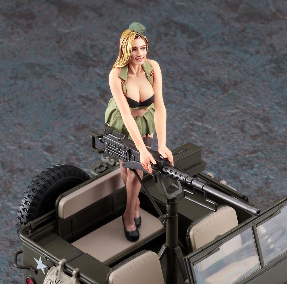 1/4トン 4×4トラック (50口径 M2機関銃装備) w/ブロンドガールズ フィギュアプラモデル(ハセガワ1/24 自動車 限定生産No.SP483)商品画像_4