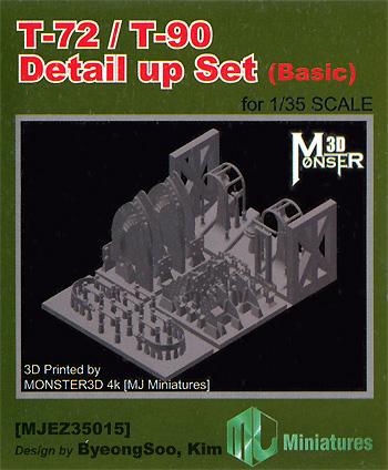 T-72/T-90戦車 ディテールアップセット ベーシックプラモデル(MJ ミニチュア3Dプリンタ キットNo.MJEZ35015)商品画像