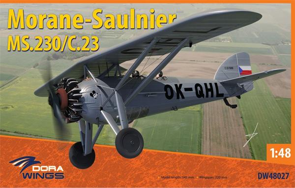 モラーヌ・ソルニエ MS.230/C.23プラモデル(ドラ ウイングス1/48 エアクラフト プラモデルNo.DW48027)商品画像