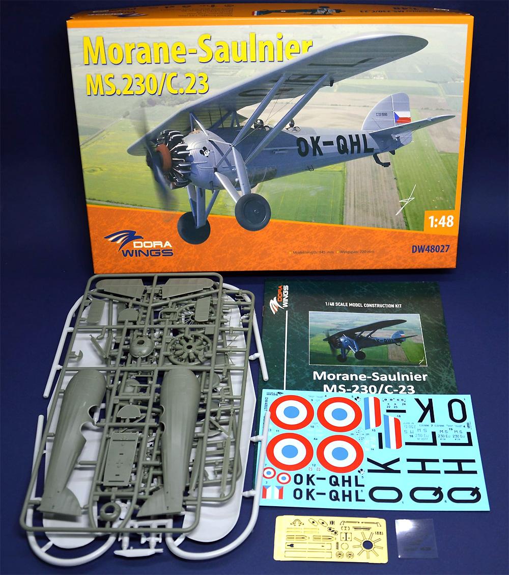 モラーヌ・ソルニエ MS.230/C.23プラモデル(ドラ ウイングス1/48 エアクラフト プラモデルNo.DW48027)商品画像_1