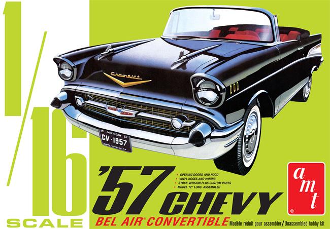 1957 シェビー ベル エア コンバーチブルプラモデル(amt1/16 カーモデルNo.AMT1159/06)商品画像