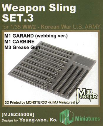 ウェポンスリングセット 3 WW2-朝鮮戦争 アメリカ陸軍 小火器用プラモデル(MJ ミニチュア3Dプリンタ キットNo.MJEZ35009)商品画像