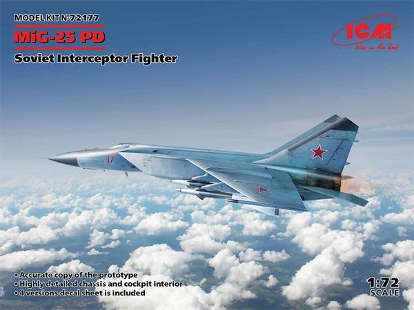 MiG-25PDプラモデル(ICM1/72 エアクラフト プラモデルNo.72177)商品画像