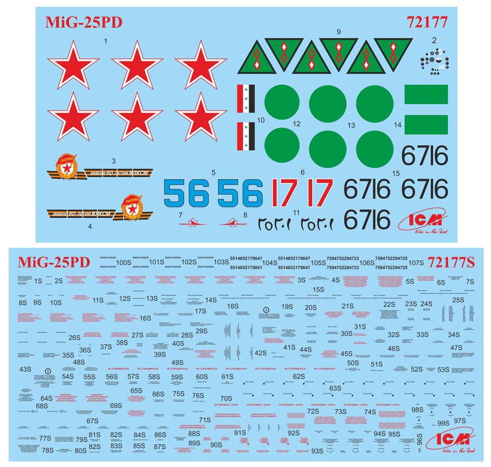 MiG-25PDプラモデル(ICM1/72 エアクラフト プラモデルNo.72177)商品画像_1