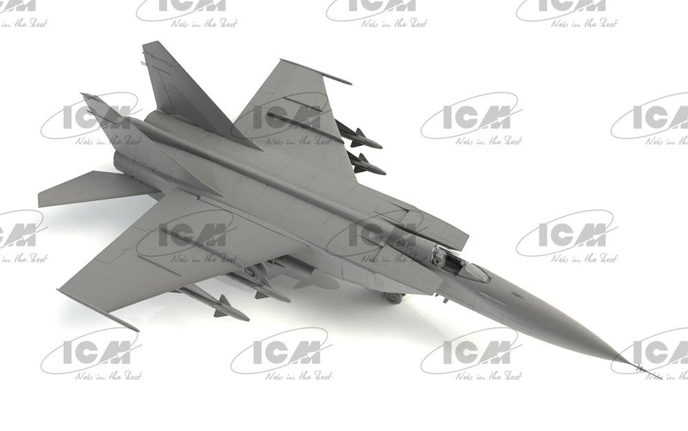 MiG-25PDプラモデル(ICM1/72 エアクラフト プラモデルNo.72177)商品画像_2