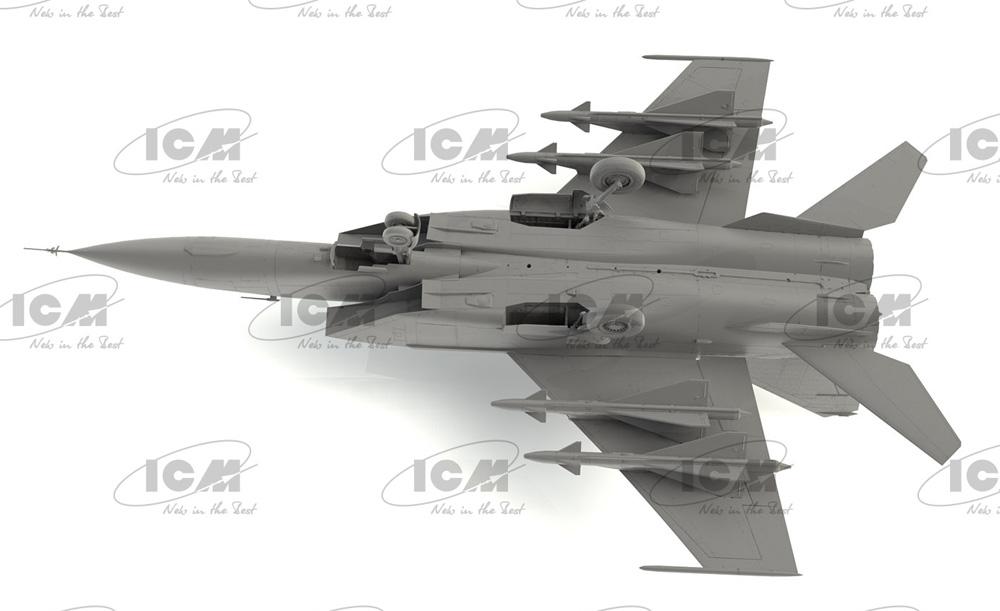 MiG-25PDプラモデル(ICM1/72 エアクラフト プラモデルNo.72177)商品画像_3