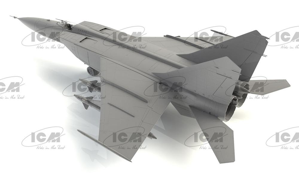 MiG-25PDプラモデル(ICM1/72 エアクラフト プラモデルNo.72177)商品画像_4
