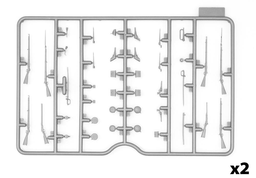 アメリカ 南北戦争 武器 & 装備セットプラモデル(ICM1/35 ミリタリービークル・フィギュアNo.35022)商品画像_1
