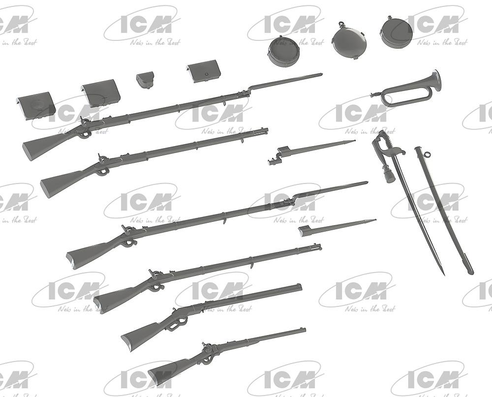 アメリカ 南北戦争 武器 & 装備セットプラモデル(ICM1/35 ミリタリービークル・フィギュアNo.35022)商品画像_2