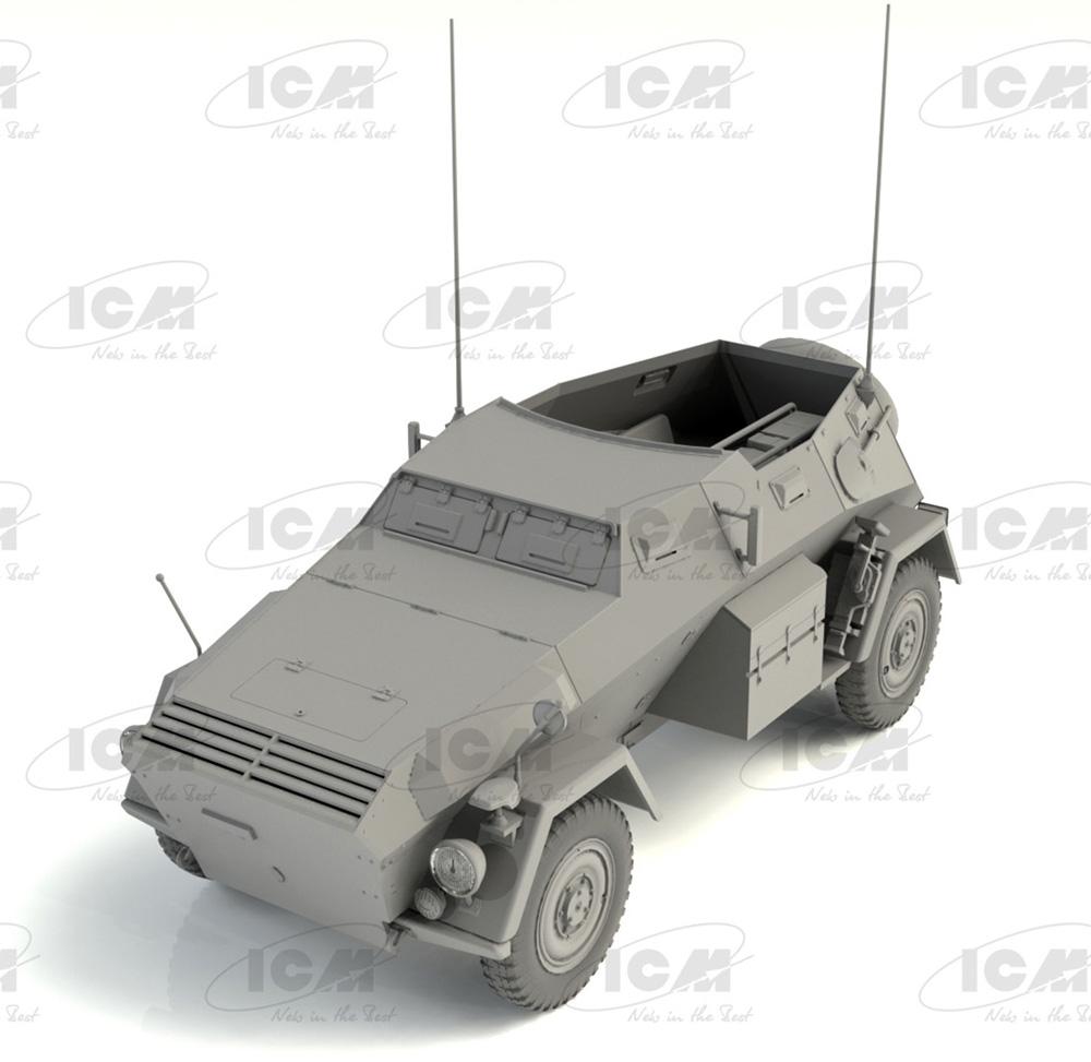 ドイツ Sd.Kfz.247 Ausf.B w/クループラモデル(ICM1/35 ミリタリービークル・フィギュアNo.35111)商品画像_2