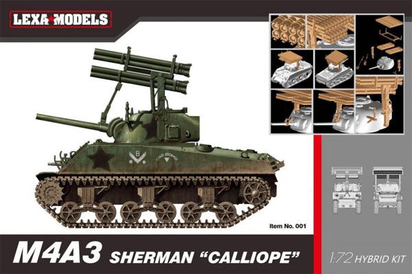 M4A3 シャーマン カリオペプラモデル(LEXA MODELS1/72 HYBRID KIT (LEXA MODELS×DRAGON)No.001)商品画像