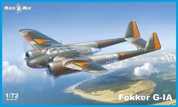 フォッカー G-1A 双発戦闘機プラモデル(ミクロミル1/72 エアクラフト プラモデルNo.72-017)商品画像