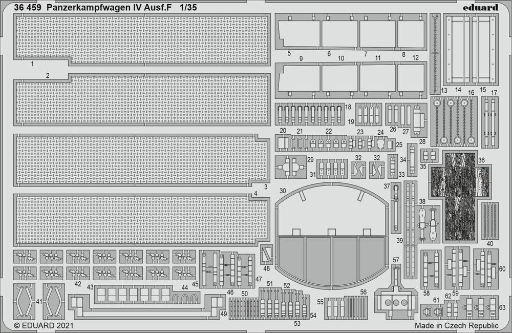 ドイツ 4号戦車F型 エッチングパーツ (タミヤ用)エッチング(エデュアルド1/35 AFV用 エッチング (36-×・35-×)No.36459)商品画像_1