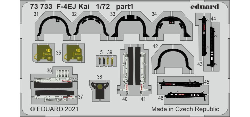 F-4EJ改 エッチングパーツ (ファインモールド用)エッチング(エデュアルド1/72 エアクラフト用 カラーエッチング (73-×)No.73733)商品画像_2