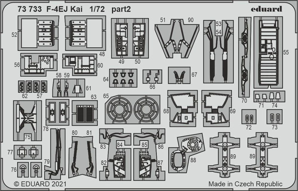 F-4EJ改 エッチングパーツ (ファインモールド用)エッチング(エデュアルド1/72 エアクラフト用 カラーエッチング (73-×)No.73733)商品画像_3