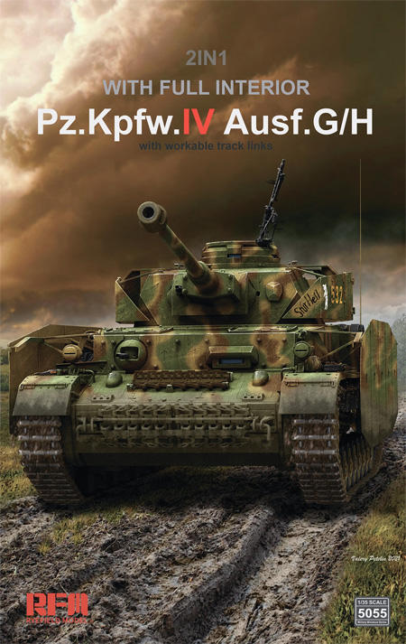 Sd.Kfz.161/1 4号戦車G/H型 フルインテリア 2in1 w/連結組立可動式履帯プラモデル(ライ フィールド モデル1/35 Military Miniature SeriesNo.5055)商品画像