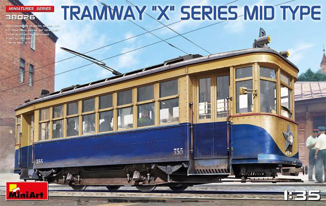 路面電車 Xシリーズ 中期型プラモデル(ミニアート1/35 ミニチュアシリーズNo.38026)商品画像