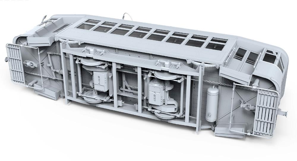 路面電車 Xシリーズ 中期型プラモデル(ミニアート1/35 ミニチュアシリーズNo.38026)商品画像_4