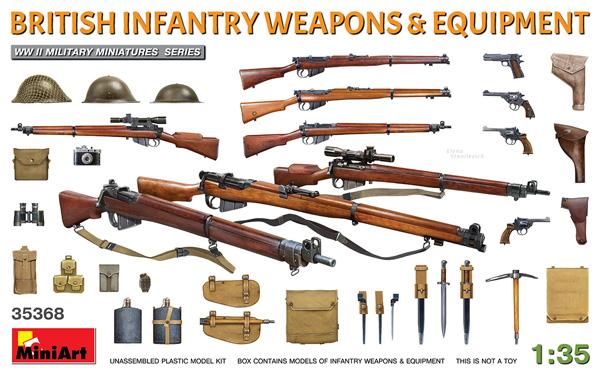 イギリス軍 歩兵用武器 & 装備品プラモデル(ミニアート1/35 WW2 ミリタリーミニチュアNo.35368)商品画像