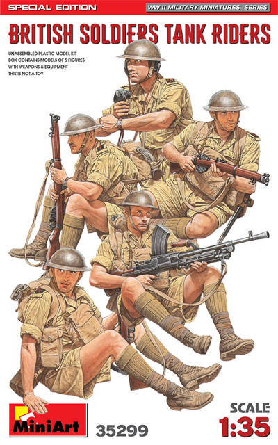 イギリス 戦車騎乗兵 スペシャルエディションプラモデル(ミニアート1/35 WW2 ミリタリーミニチュアNo.35299)商品画像