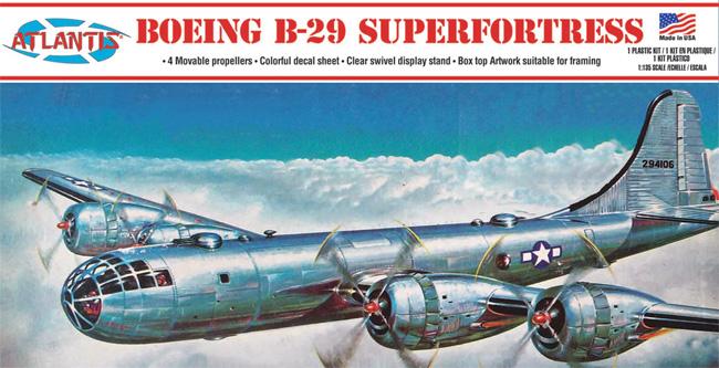 ボーイング B-29 スーパーフォートレス w/スイベルスタンドプラモデル(アトランティスプラスチックモデルキットNo.H208)商品画像