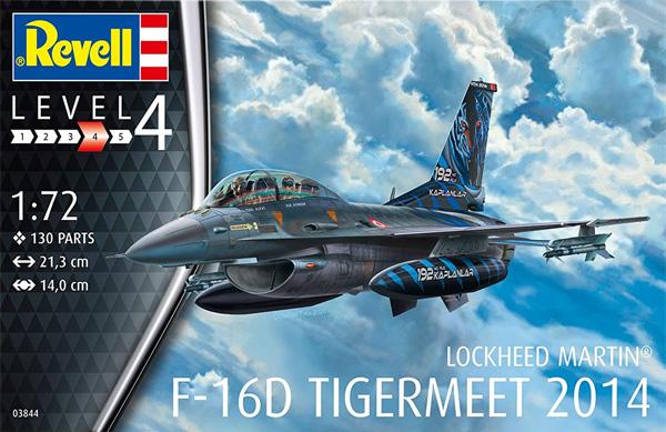 F-16D ファイティングファルコン タイガーミート 2014プラモデル(レベル1/72 AircraftNo.03844)商品画像